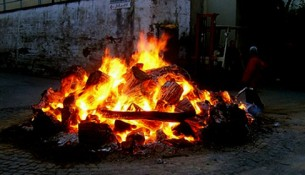 Saint Lucy bonfire in Sorrento