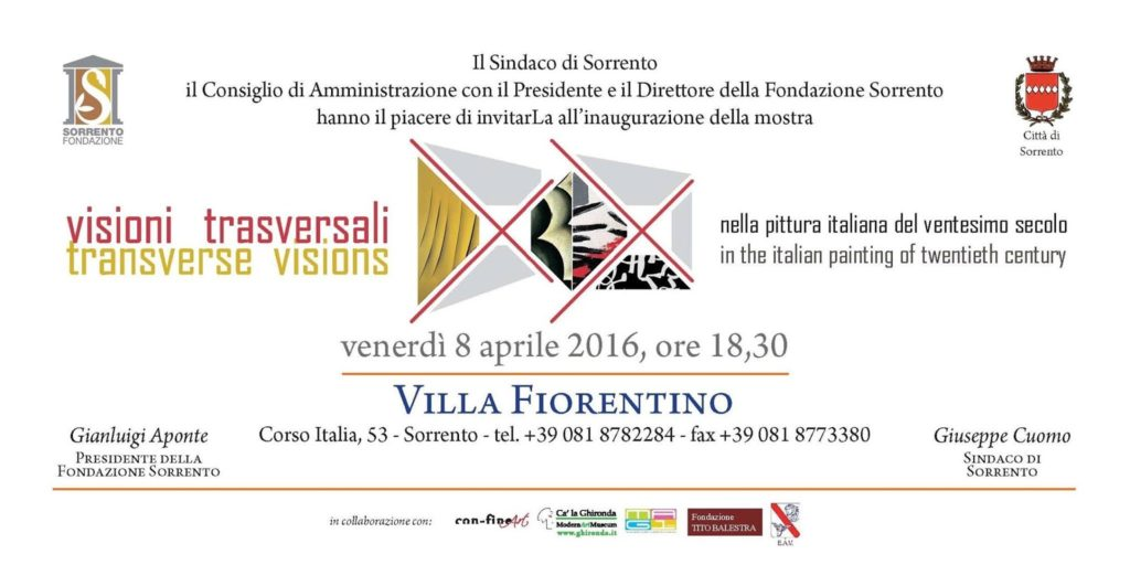 Transverse visions - Sorrento 2016
